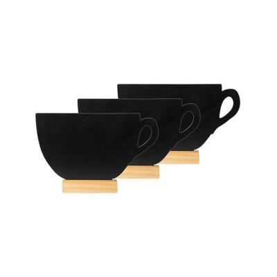 Securit bord: 120 x 100 mm, 3 pcs, Black - Zwart