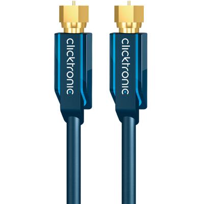 ClickTronic 5m SAT Antenna Coax kabel - Blauw
