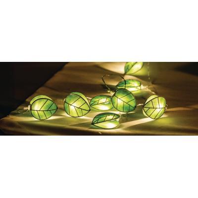 Hq decoratieve verlichting: 10x LED, 4.5V, 0.02W, 3 x AAA, Warm White - Groen