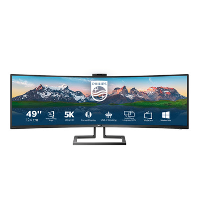 Philips P-Line SuperWide Curved LCD Monitor - Zwart
