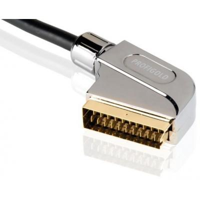 Profigold : SCART Interconnect, 2m - Zwart, Zilver