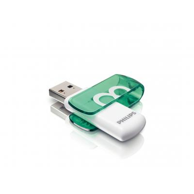 Philips FM08FD05B/00 USB flash drive - Groen, Wit