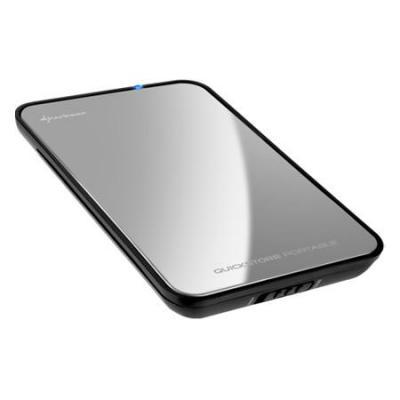 Sharkoon behuizing: QuickStore Portable - Zilver