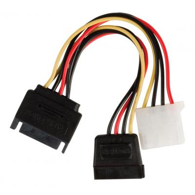 Valueline ATA kabel: Internal power adapter cable SATA 15-pin male - Molex female + SATA 15-pin female 0.15 m .....