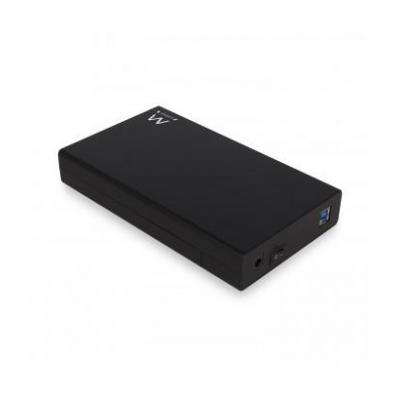 Ewent behuizing: USB 3.1 Gen1 (USB 3.0) Screwless 3.5 inch SATA HDD Enclosure - Zwart