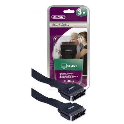 Eminent Scart Cable 3m - Zwart