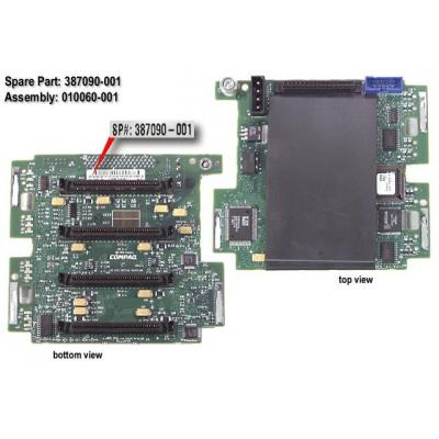 HP 4-Slot SCSI drive simplex backplane board Slot expander