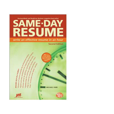 Jist publishing boek: Same-Day Resume - eBook (PDF)