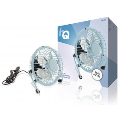 Hq ventilator: 2.5W, USB, 360°, Metal, 1m - Blauw