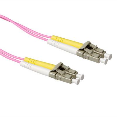 ACT 0,5 meter LSZH Multimode 50/125 OM4 glasvezel patchkabel duplex met LC connectoren Fiber optic kabel