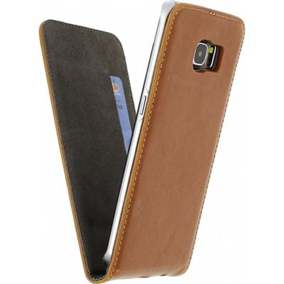 Mobilize Magnet Flip Case Samsung Galaxy S6 Edge Brown Mobile phone case - Bruin