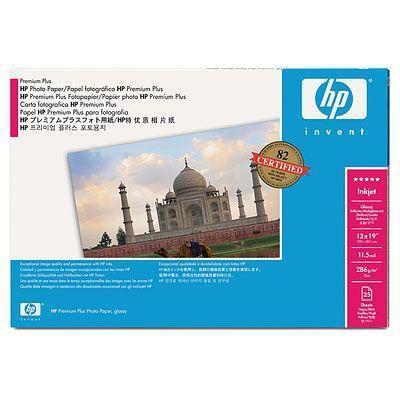 Hp fotopapier: Premium Plus satijnglans fotopapier, 286 gr/m², 610 mm x 15,2 m