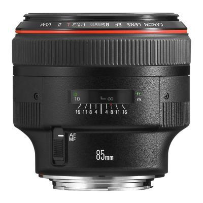 Canon camera lens: EF 85mm f/1.2 L USM II Lens - Zwart