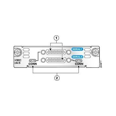 Cisco interfaceadapter: 2-Port A/S Serial HWIC Front Panel