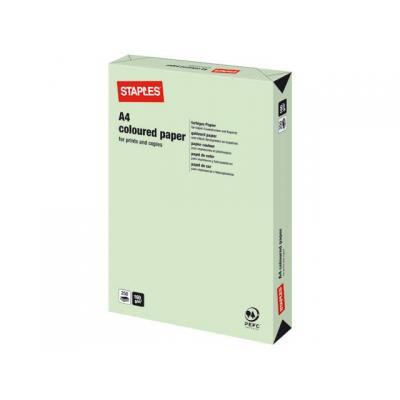 Staples papier: Papier SPLS A4 160g appelgroen/pak 250v
