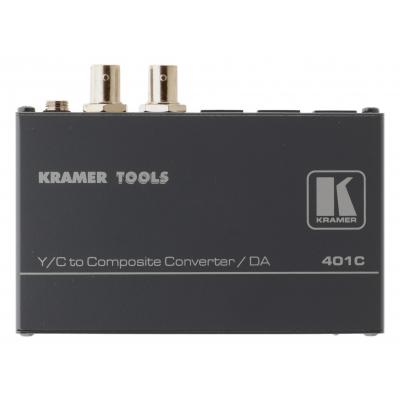 Kramer Electronics 1 s−Video IN, 2 s-Video OUT, 1.4Vpp, 160 MHz, 80 dB, 0.28 kg Video converter - .....
