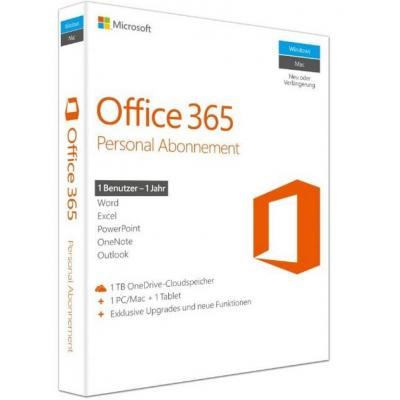 Microsoft software suite: Office 365 Personal, P2