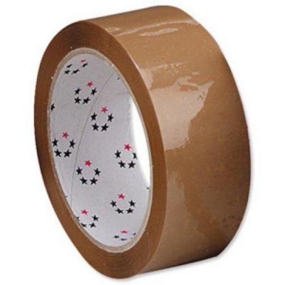 5star : (38mm x 66m) Packaging Tape Polypropylene Buff Pack of 6 - Bruin