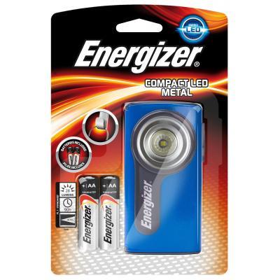 Energizer zaklantaarn: Zaklamp Compact LED - 2AA incl. - Blauw, Metallic