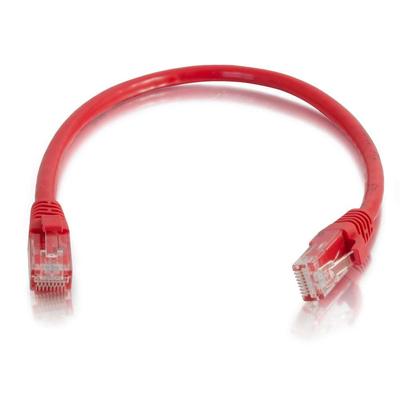 C2G 0,5 m Cat6 Booted Unshielded (UTP) netwerkpatchkabel - rood Netwerkkabel