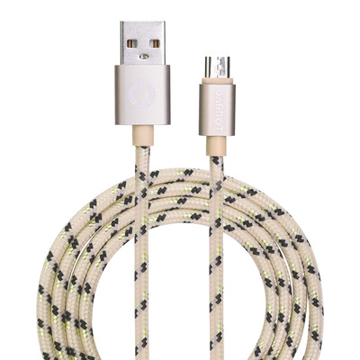 Garbot Grab&Go 1m Braided Micro-USB Cable, Gold USB kabel - Goud