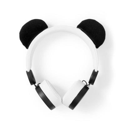 Nedis Bedrade Koptelefoon, 1,2 m Ronde Kabel, On-Ear, Afneembare Magnetische Oren, Patty Panda, Wit Headset - .....