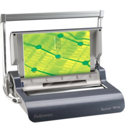 Fellowes inbindmachine: Quasar Wire inbindmachine metalen draadruggen - Grafiet