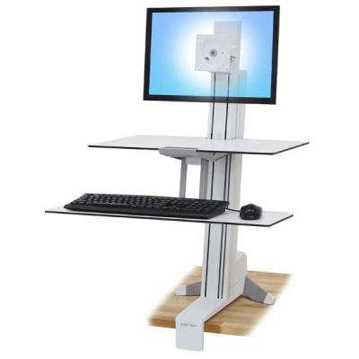 Ergotron WorkFit-S Multimedia kar & stand - Wit