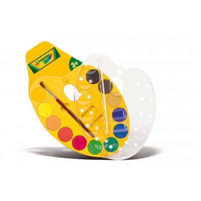 Crayola verf: Schilderspalet 12 kleuren waterverf - Veelkleurig