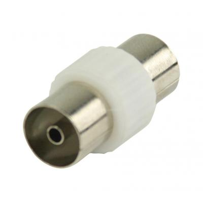 Valueline coaxconnector: Coax coupler, coax female - coax female, white - Wit