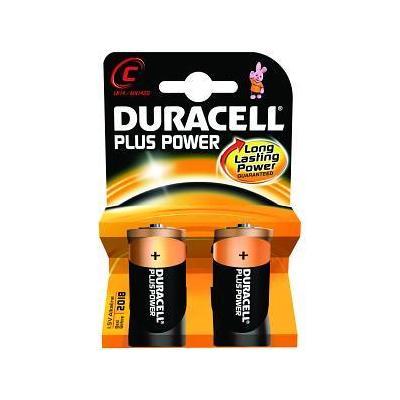 Duracell batterij: Alkaline, C, 1.5v, 2st - Zwart, Oranje