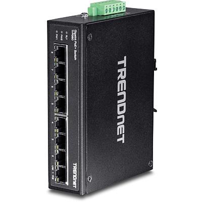 Trendnet 8 x RJ-45, Gigabit Ethernet, PoE+, IP30 Switch - Zwart