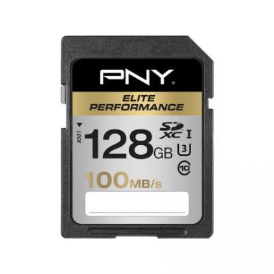 PNY 128 GB SDXC Flashgeheugen - Zwart, Zilver