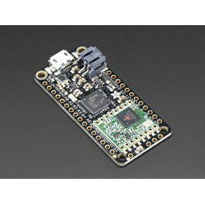Adafruit : Feather M0 RFM96 LoRa Radio 433 MHz, ATSAMD21G18 48 MHz, 20 GPIO pins, 8x PWM, 10 x analog in, 1 x analog .....