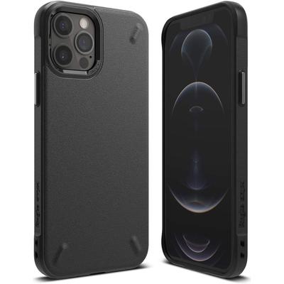 Ringke Onyx Backcover iPhone 12 (Pro) - Zwart - Zwart / Black Mobile phone case