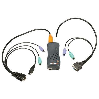 Lantronix KVM switch: SecureLinx SpiderDuo - Zwart