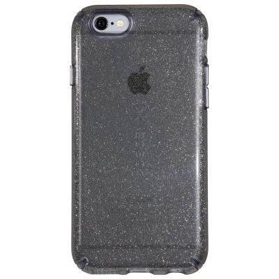 Speck apparatuurtas: iPhone 6 / 6s CandyShell (Clear / Onyx Gold Glitter)