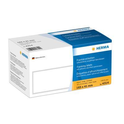 Herma etiket: Franking labels with tab edge 165x41 mm 1000 pcs.