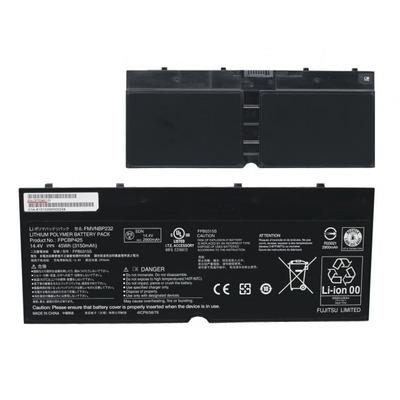 Fujitsu 45 Wh, 4 Cells, Black, 3150 mAh Notebook reserve-onderdeel - Zwart