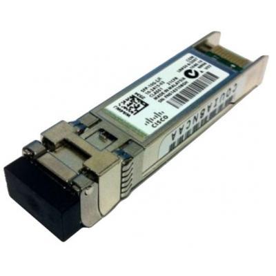 Cisco netwerk tranceiver module: SFP+ 10km LC - Aluminium