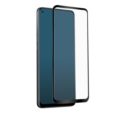 SBS Full Cover Glass for Oppo A94 5G, Antiscratch, Rounded corners, Silicone edge Screen protector - .....