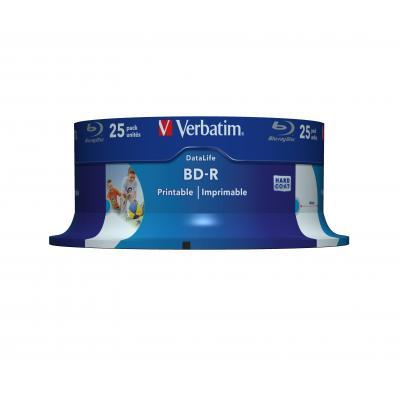 Verbatim BD-R SL Datalife 25GB 6x Wide Inkjet Printable 25 Pack Spindle BD