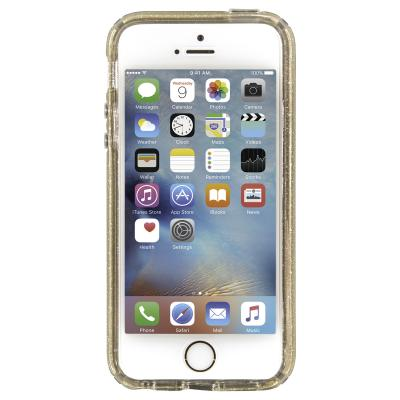 Speck apparatuurtas: iPhone 5 / 5s / Se CandyShell (Clear / Clear Gold Glitter)