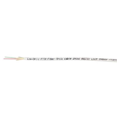 Lanview FTTH fibre cable 2 x 9/125, MY OS2, LSZH, G657A1, White, 200 m Fiber optic kabel - Wit