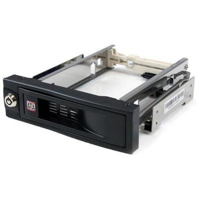 Startech.com drive bay: 5,25 inch Hot-Swappable Mobile Rack voor 3,5 inch Harde Schijf - Zwart