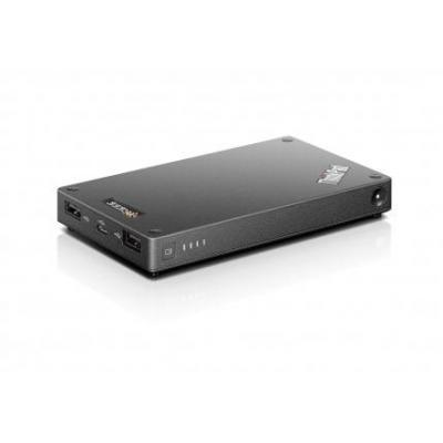 Lenovo powerbank: ThinkPad Stack 10000mAh Power Bank - Zwart