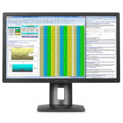HP monitor: Z27q - Zwart (Approved Selection One Refurbished)