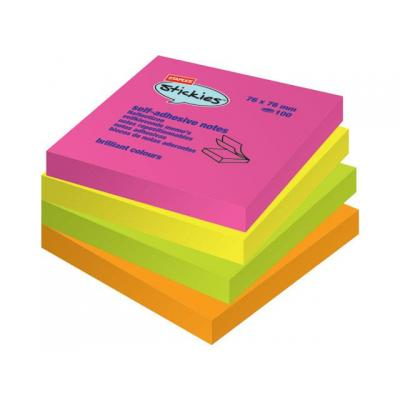 Staples Notitieblok SPLS 76x76mm rbw /pk12