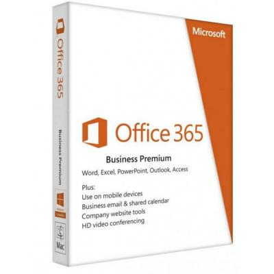 Microsoft software suite: Office 365 Business Premium, 1Y, OLP NL
