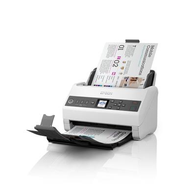 Epson WorkForce DS-730N Scanner - Zwart,Grijs